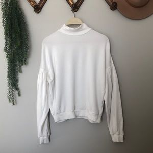 Dynamite White Puff Sleeve Sweater